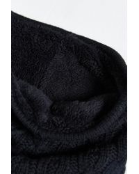 Urban Outfitters | Black Cable Knit Sherpa Neck Warmer Scarf for Men | Lyst