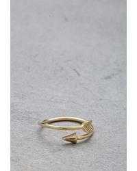 Forever 21 | Metallic Flash Trash Girl Arrow Midi Ring | Lyst