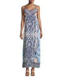 Greylin | Blue Paisley Sleeveless Maxi Dress | Lyst