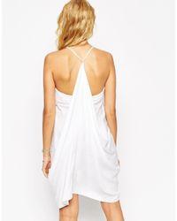 ASOS | White Petite Drapey Summer Sundress | Lyst