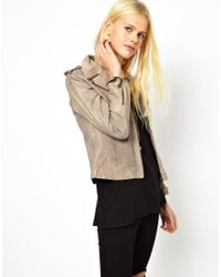 Doma Leather - Gray Arena Leather Jacket - Lyst