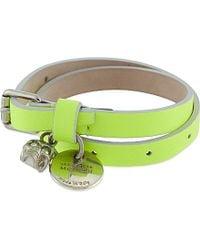 Alexander McQueen | Green Double Wrap Bracelet | Lyst