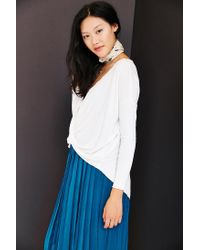 Silence + Noise | White Wonderland Surplice Top | Lyst