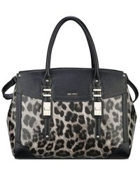 Nine West | Black Flip Lock Satchel | Lyst