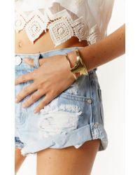 Natalie B. Jewelry | Metallic Long Horn Cuff Bracelet | Lyst