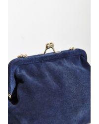 Kimchi Blue - Blue Suede Kiss Lock Bag - Lyst