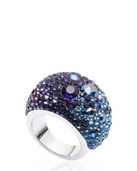 Swarovski | Blue & Purple Crystal Ring Size 7 | Lyst