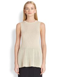 The Row | Natural Olivia Knit Top | Lyst