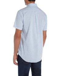 GANT | Blue Wilshire Classic Fit Gingham Shirt for Men | Lyst