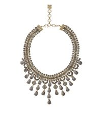 BCBGMAXAZRIA | Metallic Corded Gemstone Necklace | Lyst