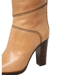 Chloé | Natural 105mm Leather Over The Knee Boots | Lyst