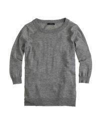 J.Crew | Gray Merino Wool Tippi Sweater | Lyst