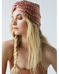 Free People | Brown Brigitte Printed Turban | Lyst