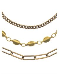 Isabel Marant - Metallic Paris Lovers Layered Necklace - Lyst