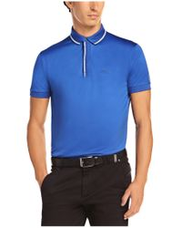 BOSS Green - Blue Polo Shirt: 'paddy 5' In Cotton for Men - Lyst