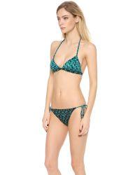 Marc By Marc Jacobs - Green Aurora Triangle Bikini Top - Lyst