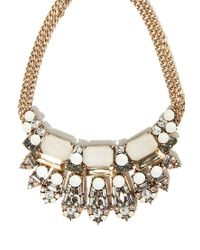 Forever 21 - Gray Faux Stone Statement Necklace - Lyst