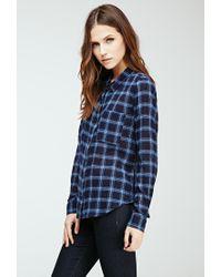 Forever 21 - Blue Plaid Button-down Shirt - Lyst