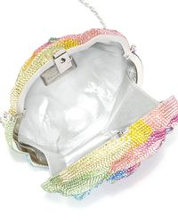 Judith Leiber Couture - Multicolor Celina Rose Crystal Clutch Bag - Lyst
