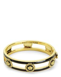 Juicy Couture | Metallic Status Coin Enamel Bangle | Lyst