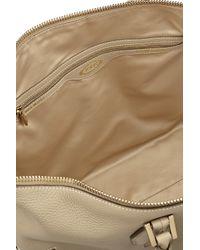Tod's - Metallic D-Cube Mickey Medium Textured-Leather Tote - Lyst