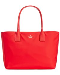 kate spade new york | Red Classic Nylon Catie Tote | Lyst