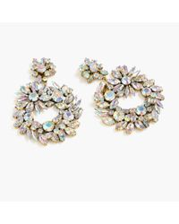 J.Crew | Metallic Crystal Wreath Earrings | Lyst