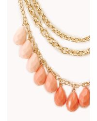 Forever 21 | Pink On The Edge Layered Bib Necklace | Lyst