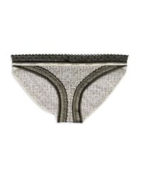 Calvin Klein | Black Lace Trimmed Bikini Panties | Lyst