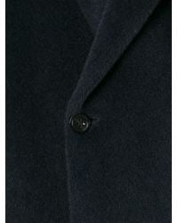 Emporio Armani - Blue Hooded Coat for Men - Lyst