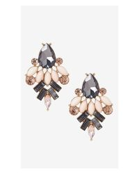 Express - Pink Rhinestone Cluster Post Earrings - Lyst