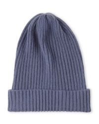 Portolano - Blue Knit Cashmere Skully for Men - Lyst