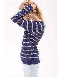 Forever 21 - Blue Striped Raglan Sweater - Lyst