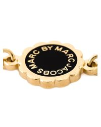 Marc By Marc Jacobs - Black Logo Pendant Bracelet - Lyst