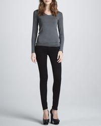 J Brand - Black Midrise Skinny Ankle Jeans - Lyst