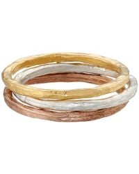 Dogeared | Metallic Karma Rings Set Of 3 | Lyst