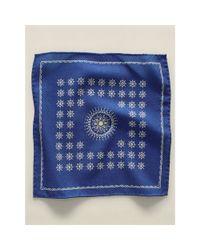 RRL - Blue Medallion Wool Pocket Square for Men - Lyst