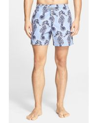 Vilebrequin | Gray 'moorea' Seahorse Print Swim Trunks for Men | Lyst