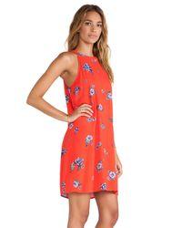 Splendid - Orange Ashbury Blooms Tank Dress - Lyst