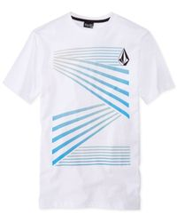 Volcom - Blue Sleighed T-Shirt for Men - Lyst