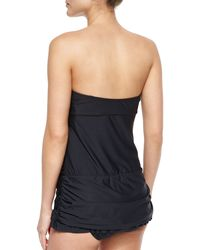 Athena - Black Molded Cup Bandeau Swimsuit - Lyst