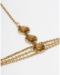 ASOS - Metallic 70s Stone Chain Hair Crown - Lyst