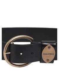 DSquared² - Black Leather Belt - Lyst