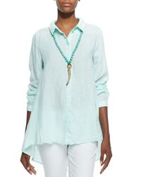 Eileen Fisher - White Organic Handkerchief Linen Shirt - Lyst