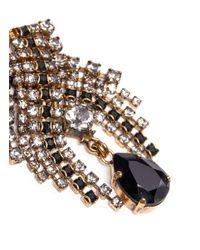 Aerin | Metallic X Erickson Beamon Crystal Chain Mesh Drop Earrings | Lyst