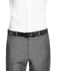 HUGO | Gray 'girgi' | Leather Metallic Laminated Belt for Men | Lyst
