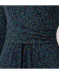 Hobbs - Blue Mini Square Print Dress - Lyst