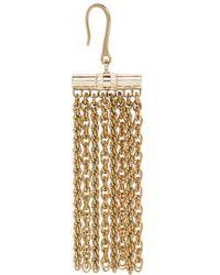 Lanvin - Metallic Gold Chain Zita Earrings - Lyst
