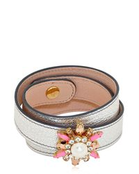 Shourouk - Orange Beedis Bracelet - Lyst