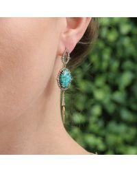 Sylva & Cie - Blue Kingman Turquoise And Diamond Drop Earrings - Lyst